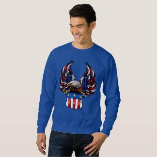 American Eagle, blanco y azul rojos, patriota, Sudadera