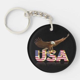 American Eagle Llavero Redondo Acrílico A Una Cara