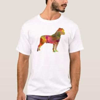 American Staffordshire Terrier in watercolor 2 Camiseta