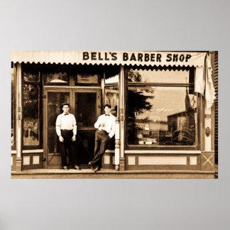 Americana retro del vintage de la peluquería de póster
