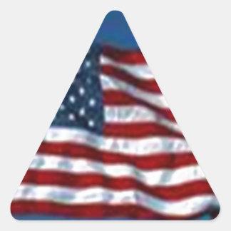 americanflag pegatina triangular