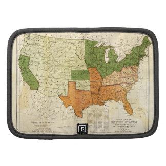 Americano 1857 libre y mapa auxiliar de los organizadores