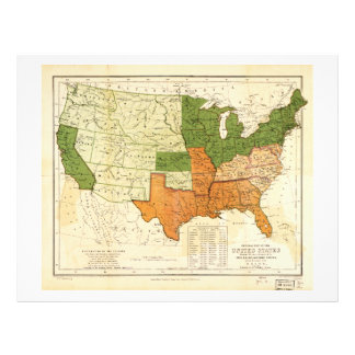 Americano 1857 libre y mapa auxiliar de los membretes personalizados