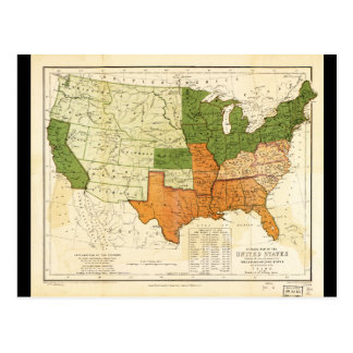 Americano 1857 libre y mapa auxiliar de los postal