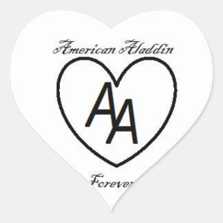 Americano Aladdin 4 nunca Pegatina En Forma De Corazón