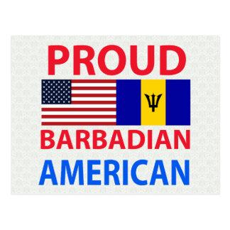 Americano barbadense orgulloso postal