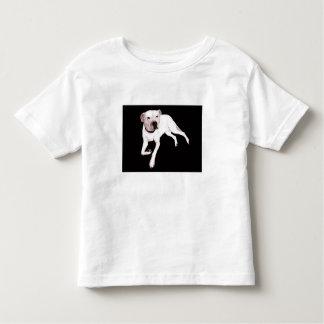 Americano blanco Pitbull Terrier Camiseta De Niño