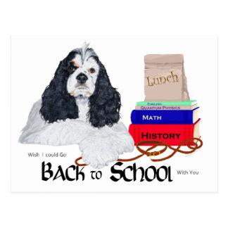 Americano cocker spaniel de nuevo a escuela postal