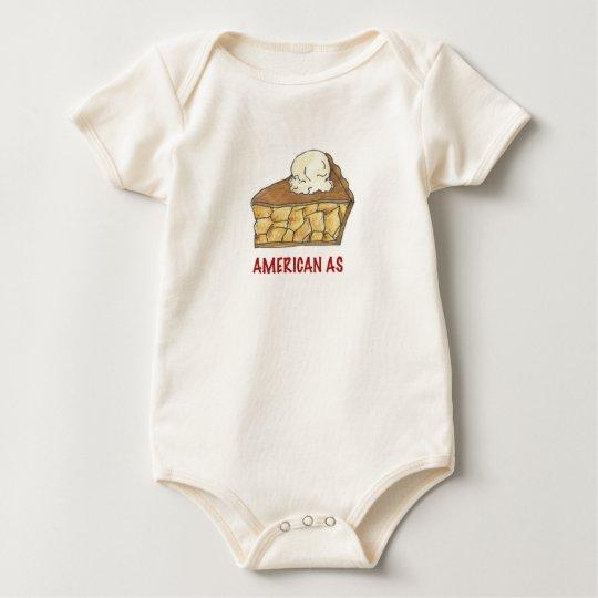 Americano como empanada de Apple un postre Body Para Bebé