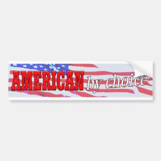 Americano de la pegatina para el parachoques bien  pegatina para coche