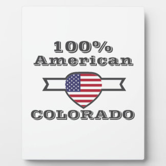 Americano del 100%, Colorado Placa Expositora