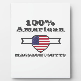 Americano del 100%, Massachusetts Placa Expositora