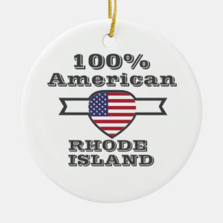 Americano del 100%, Rhode Island Adorno De Cerámica
