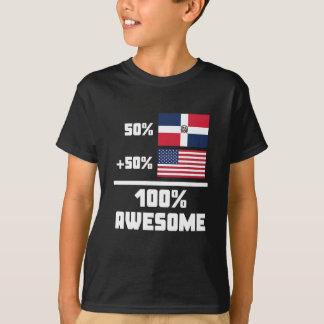 Americano dominicano impresionante camiseta