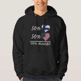 Americano finlandés del 50% el 50% el 100% hermoso sudadera