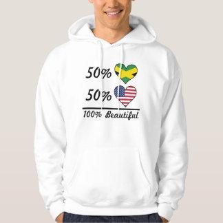 Americano jamaicano del 50% el 50% el 100% hermoso sudadera