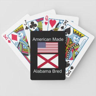 """""""Americano llevado. Alabama crió"""" banderas y Baraja De Cartas Bicycle"""