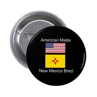 """""""Americano llevado. New México crió"""" diseño de la Chapa Redonda De 5 Cm"""
