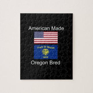 """""""Americano llevado. Oregon crió"""" banderas y Puzzle"""
