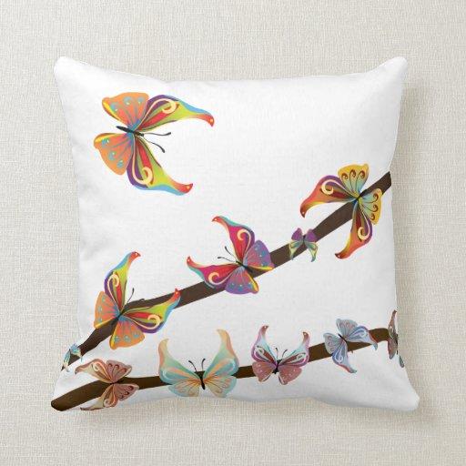 Americano MoJo de las mariposas de la decoración Cojin