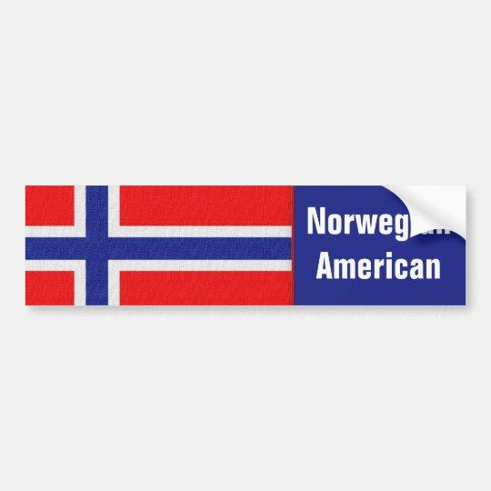Americano noruego pegatina para coche