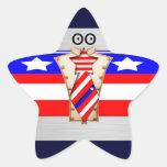 Americano orgulloso colcomanias forma de estrella