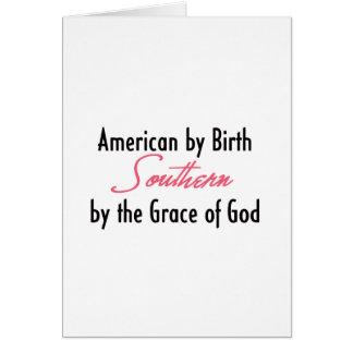 Americano por el nacimiento meridional por la gra felicitaciones