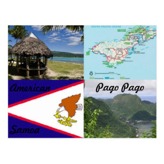 Americano, Samoa, postal de Pago Pago