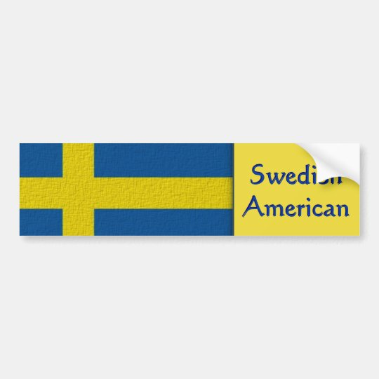 Americano sueco pegatina para coche