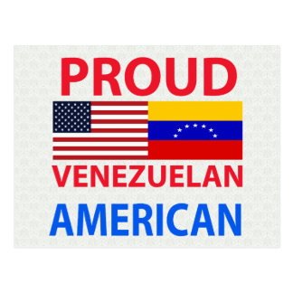 Americano venezolano orgulloso tarjetas postales