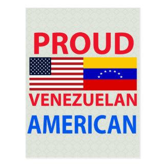 Americano venezolano orgulloso tarjeta postal