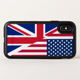 Americano y caso del iPhone X de Apple de la