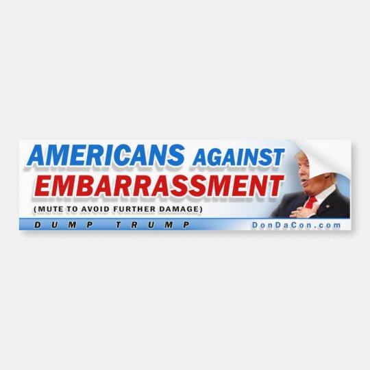 Americanos contra la vergüenza pegatina para coche