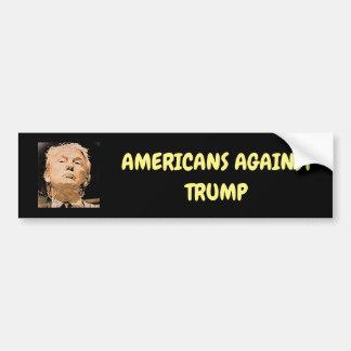 Americanos contra pegatina para el parachoques del