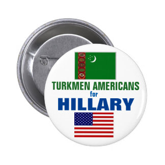 Americanos turcomanos para Hillary 2016 Chapa Redonda De 5 Cm
