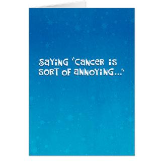 Amigo con la afirmación del cáncer tarjeta