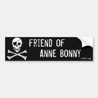 Amigo de la pegatina para el parachoques de Anne