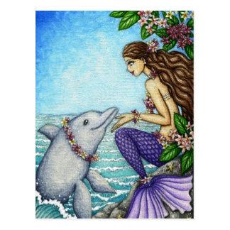 Amigo de la sirena y del delfín postal
