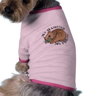 Amigo del hámster camiseta con mangas para perro
