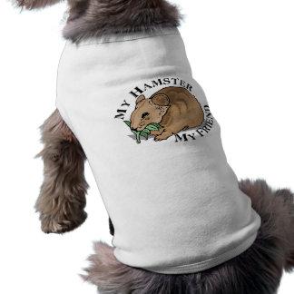 Amigo del hámster camiseta sin mangas para perro