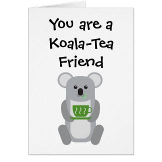 Amigo del Koala-Té - tarjeta de felicitación
