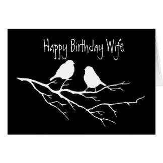 Amigo especial de la esposa del feliz cumpleaños,  tarjetón