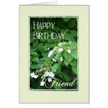 Amigo-Flores del feliz cumpleaños Tarjeton