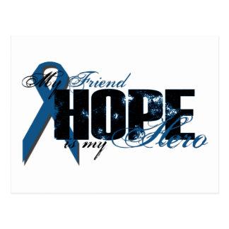 Amigo mi héroe - esperanza del cáncer de colon postal