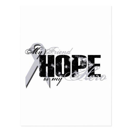 Amigo mi héroe - esperanza del pulmón postales