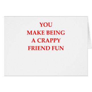 amigo tarjeta de felicitación