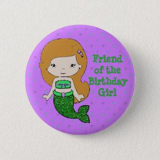 """Amigo temático de la sirena """"del botón del chica"""