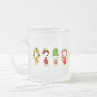 Amigos de la fruta (verde) taza de café esmerilada