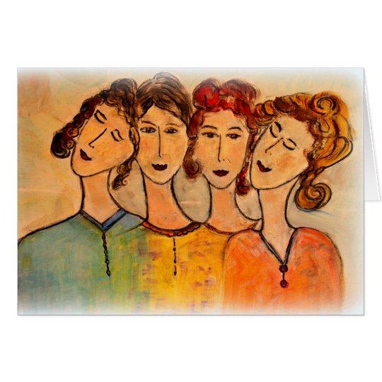 Amigos de las mujeres tarjeta pequeña