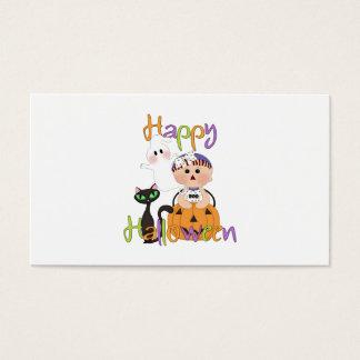 Amigos del bebé del feliz Halloween Tarjeta De Negocios